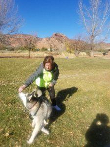 Teaching dog to spin